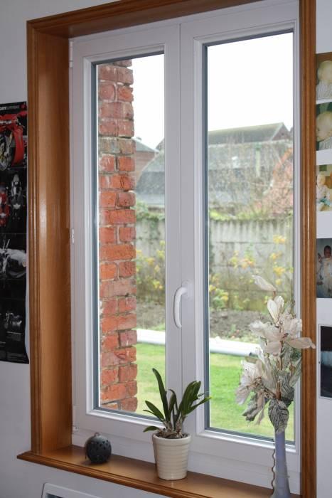 fenêtre PVC ébrasement bois