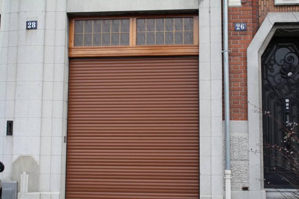 porte de garage PVC imposte bois