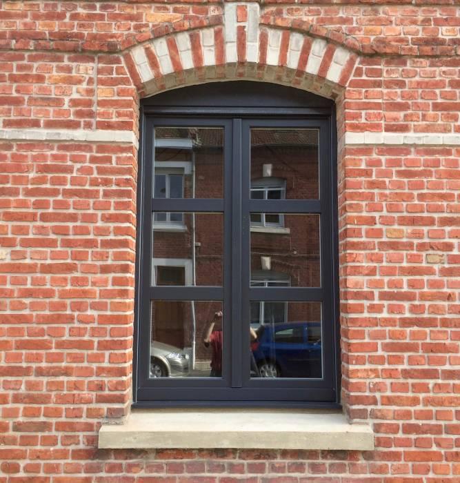 fenêtre PVC grise